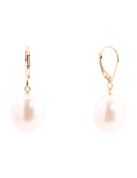 Made In Usa 14k Gold Baroque Pearl Drop Earrings by Tj Maxx