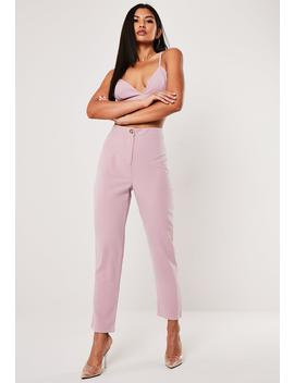 Lilac Cigarette Pants by Missguided