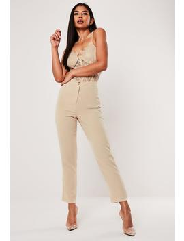 Stone Cigarette Pants by Missguided