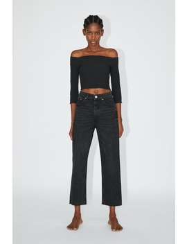 Hi Rise Straight Leg Jeans View All Jeans Woman by Zara