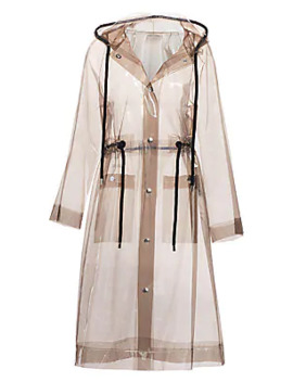 Hooded Clear Raincoat by Proenza Schouler Pswl
