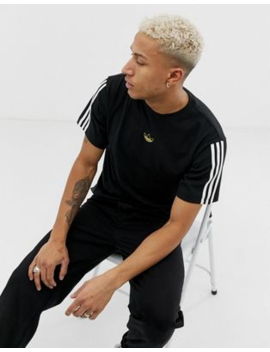Adidas Originals – Floating – T Shirt In Schwarz Gestreift, Dv3262 by Asos