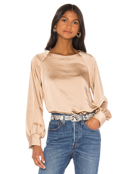 Satin Top In Toffee by Line & Dot