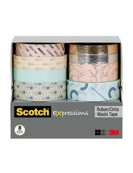 Scotch® 8pk Expressions Washi Tape by Scotch
