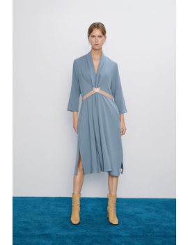 Belted Wrap Dress New Inwoman by Zara