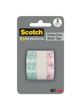 Scotch Expressions 3pk Ruban Cinta Washi Tape   Simple Lines by Simple Lines