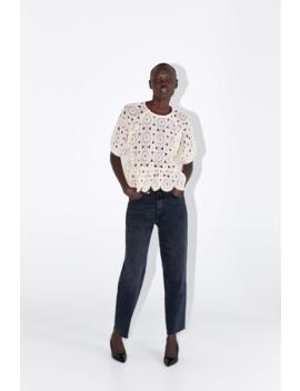 Ruffled Knit Top Tops Knitwear Woman by Zara