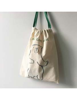 Dancing Bear Big Pouch by Etsy