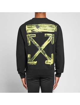 Off White Acrylic Arrows Slim Crew Sweat by Off White