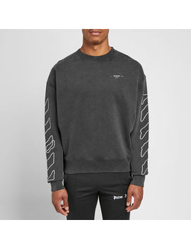 Off White Abstract Arrows Oversized Crew Sweat by Off White