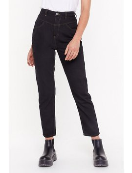 Get Stitch High Waisted Mom Jeans by Nasty Gal