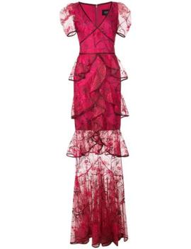 Vestido Largo Bordado by Marchesa Notte