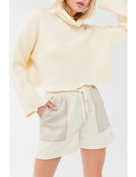 Uo Fleece Drawstring Short by Urban Outfitters