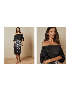 Off The Shoulder Opal Bodycon Dress by Ted Baker