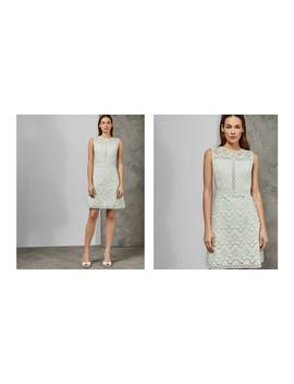 Kleid In A Linie Mit Geometrischer Spitze by Ted Baker