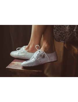 Silver Sequin Shoes | Silver And White Oxfords by Etsy
