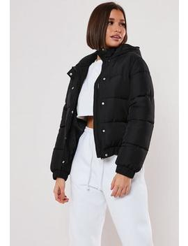 Petite Black Puffer Jacket by Missguided