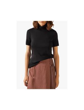 Jigsaw Short Sleeve Jersey Polo Top, Black by Jigsaw