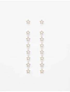 Μακριά σκουλαρίκια με αστέρια by Bershka