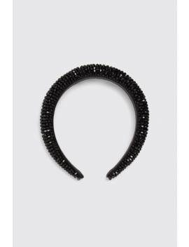 Padded Headband With Rhinestones Hair Accessories Accessories Woman by Zara