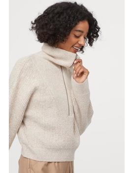 Rib Knit Sweater With Collar by H&M