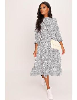 Polka Dot 3/4 Sleeve Midi Dress by I Saw It First