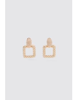 Geometric Pearl Bead Earrings Jewellery Accessories Woman by Zara