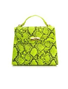 Viscous Bite Bag   Neon Yellow by Fashion Nova