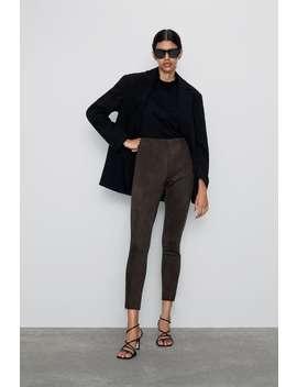 Faux Suede Leggings  New Inwoman by Zara