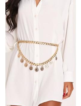 Gold Drop Coin And Chain Belt by I Saw It First