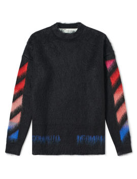 Off White Diagonals Brushed Mohair Knit by Off White's
