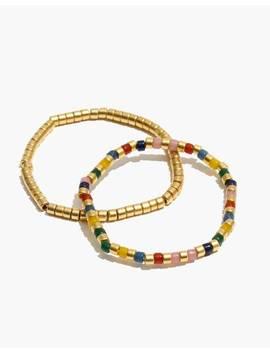 Rainbow Acrylic Beaded Bracelet Set by Madewell