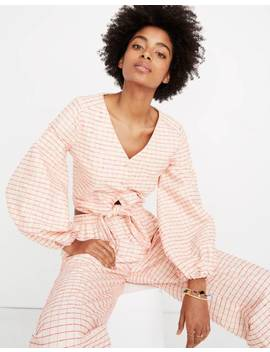 Stine Goya™ Bianca Tie Front Top In Check by Madewell