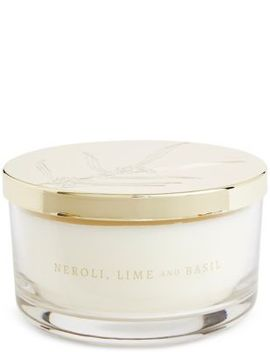 Neroli, Lime & Basil 3 Wick Candle by Marks & Spencer