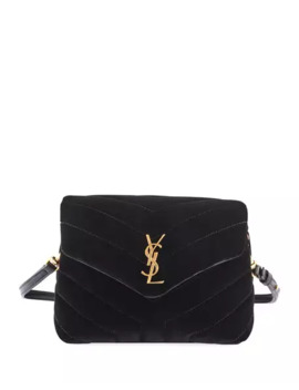 Saint Laurent Loulou Monogram Ysl Toy Quilted Velvet Shoulder Bag by Saint Laurent