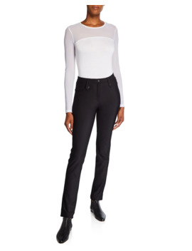 Skyler Cozy Slim High Rise Pants by Anatomie
