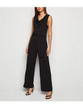 Mela Black Wide Leg Cowl Jumpsuit by New Look
