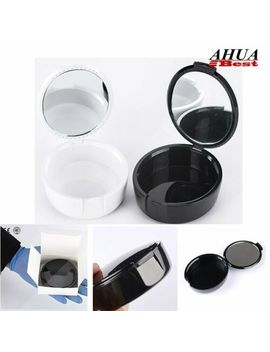 Plastic Denture Storage Box With Mirror Elegant False Teeth Case Container 1pcs by Ebay Seller