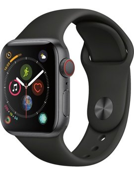 Apple Watch Series 4 (Gps + Cellular) 40mm Space Gray Aluminum Case With Black Sport Band   Space Gray Aluminum (Unlocked) by Apple