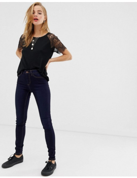 Pieces Shape Up Mid Rise Skinny Jeans by Pieces