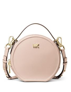 Delaney Medium Leather Circle Crossbody by Michael Michael Kors