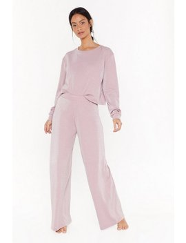 No Bad Vibes Wide Leg Lounge Pants by Nasty Gal