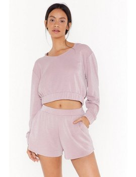 No Bad Vibes High Waisted Lounge Shorts by Nasty Gal