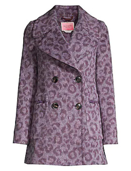 Brushed Leopard Peacoat by Kate Spade New York
