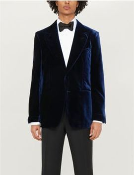 Single Breasted Slim Fit Velvet Tuxedo Jacket by Tom Ford