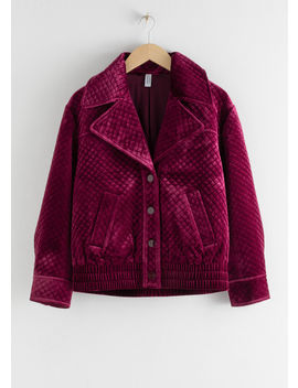 Quilted Velour Jacket by & Other Stories