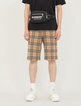 Checked Wool Shorts by Burberry