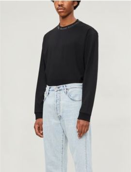 Elogho Branded Stretch Jersey Jumper by Acne Studios
