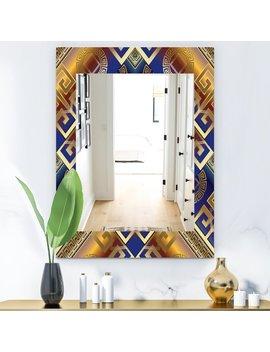 Meander Greek Traditional Frameless Bathroom/Vanity Mirror by East Urban Home