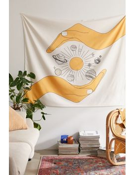 Nadja For Deny Universe In Your Hands Tapestry by Deny Designs
